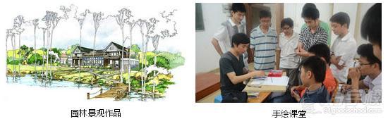广州商业展示设计之手绘课堂及园林景观作品