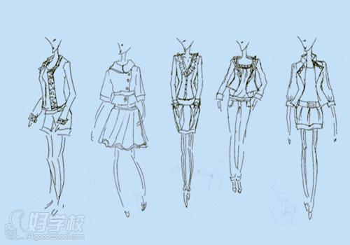 这种方法是服装设计师最主要也是最基本的表达方法