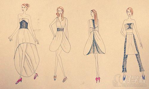 服装设计学习:时装画的16种简易画法-广州中大伟华