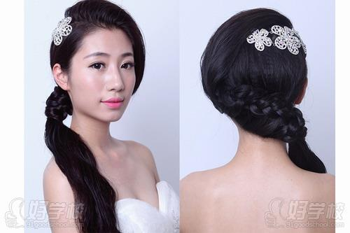 新娘发型模仿操作